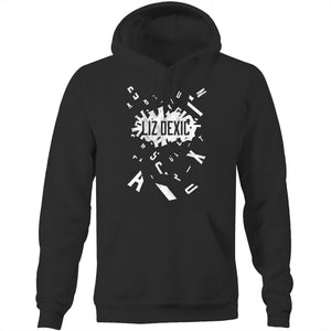 Open image in slideshow, Hoodie - Logo Jumble - White Print