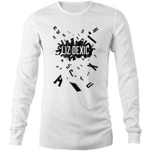 Open image in slideshow, Long Sleeve - Logo Jumble - Black Print