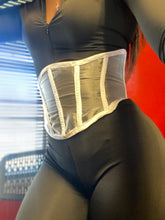 Load image into Gallery viewer, White Mesh Corset Belt