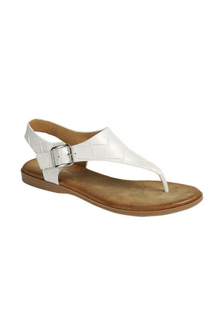 The White Braided Sling-back Sandal