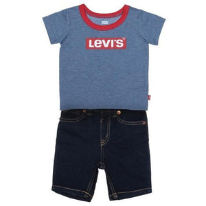 Ensemble de Sport pour Bébé Levi's STRETCH DENIM SHORT Bleu