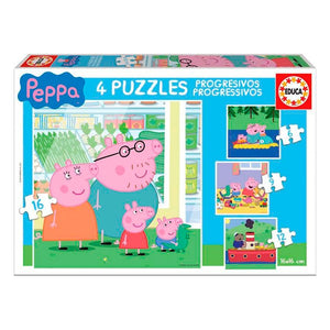 Set de 4 Puzzles Peppa Pig Educa