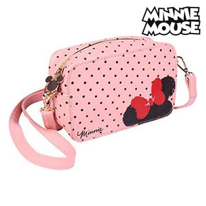 Sac à Bandoulière Minnie Mouse (19 x 12,1 x 6,5 cm) Rose