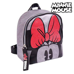 Sac à dos Casual Minnie Mouse (18 x 21 x 10 cm) Argenté