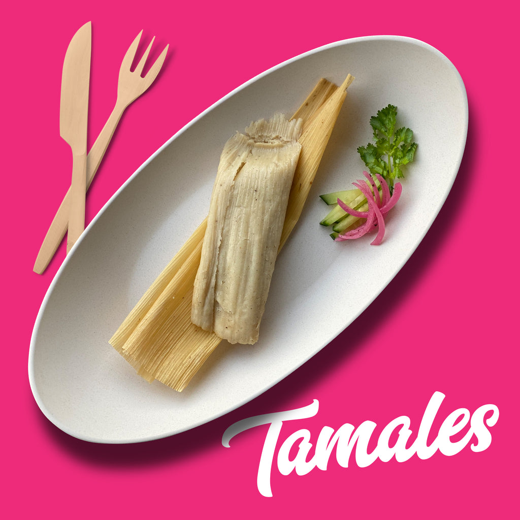 Poblano and Panela Cheese Tamal