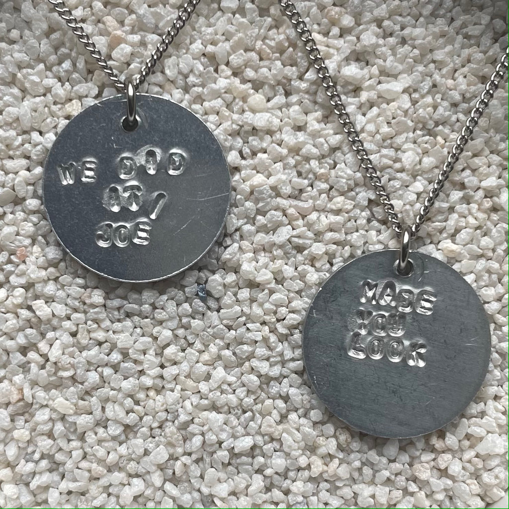 Stamped Circle Necklace