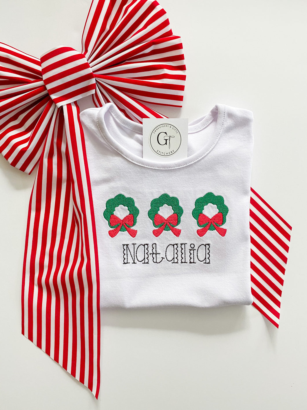 Holiday Wreath Shirt or Onesie