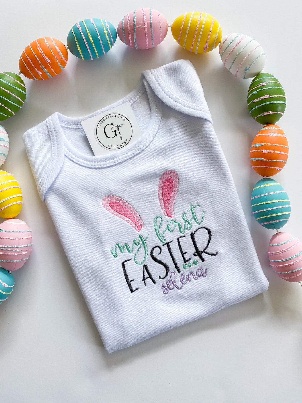My First Easter Onesie (Purple Font)