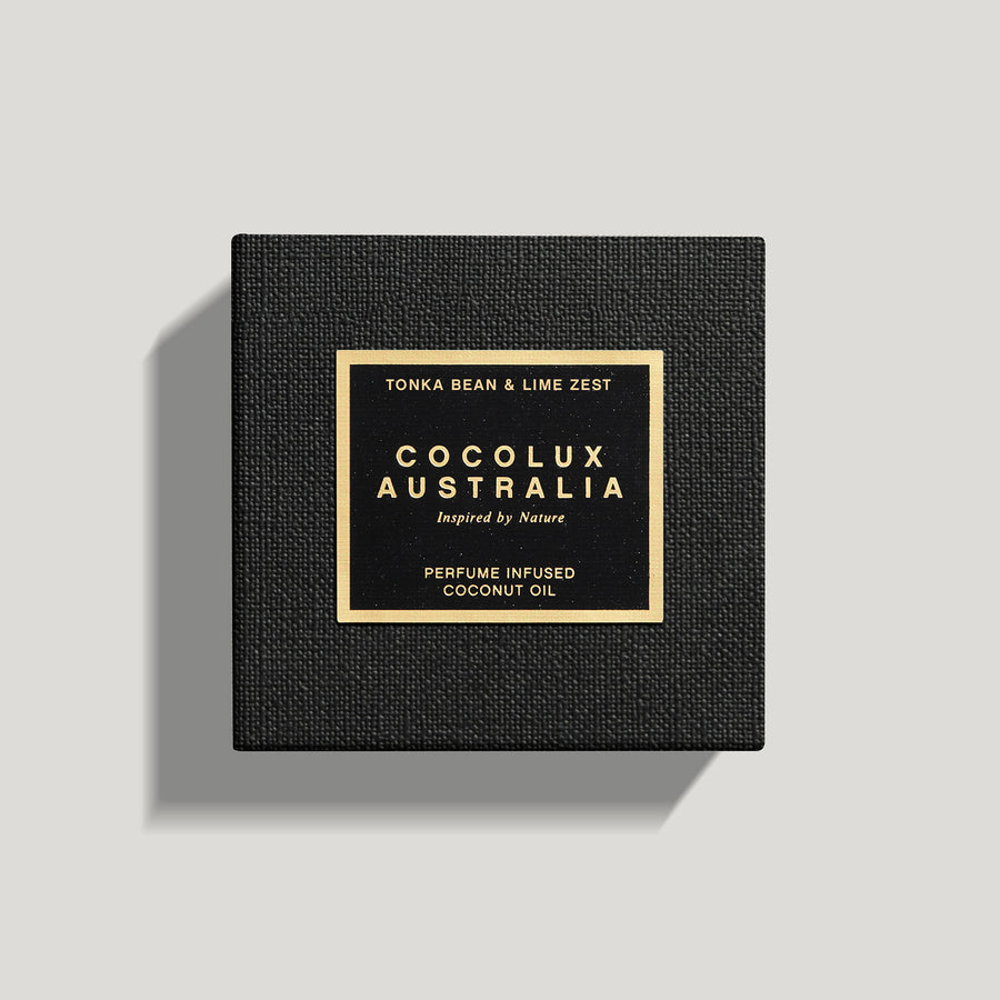 COCOLUX AUSTRALIA - LUNA | TONKA BEAN & LIME ZEST - SMALL BRASS LUXURY CANDLE