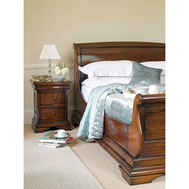 Normandie Mahogany 5ft King Size Sleigh Bed Frame from Upstairs Downstairs Furniture in Lisburn, Monaghan and Enniskillen