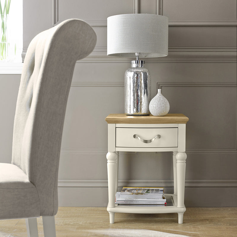 Montreux Lamp Table - Cream from UpstairsDownstairs.ie