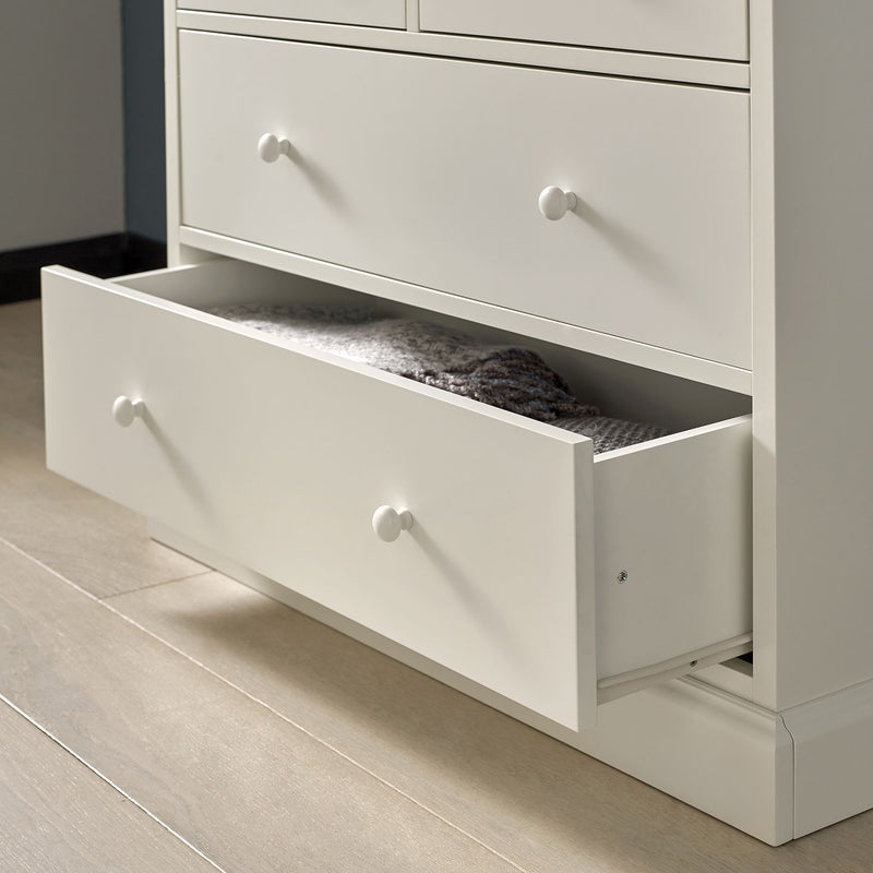 Ashby Soft Grey 2 over 2 Drawer Chest from Upstairs Downstairs Furniture in Lisburn, Monaghan and Enniskillen