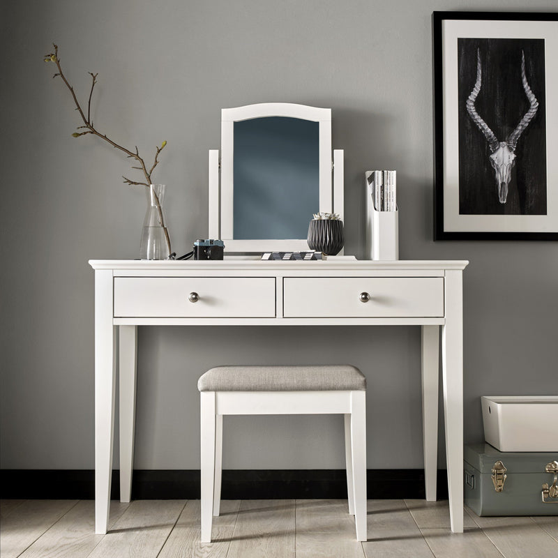Ashby White Dressing Table (Set) from Upstairs Downstairs Furniture in Lisburn, Monaghan and Enniskillen