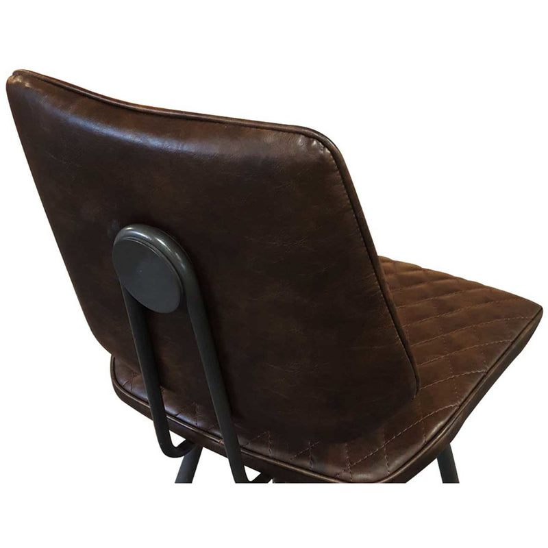 Brown leather dining chair rustic dining chair