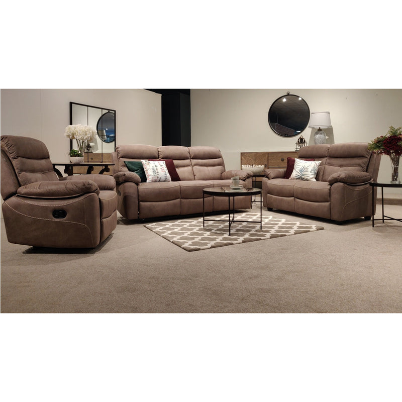Lucy 3 Seater Recliner Pecan from Upstairs Downstairs Furniture in Lisburn, Monaghan and Enniskillen