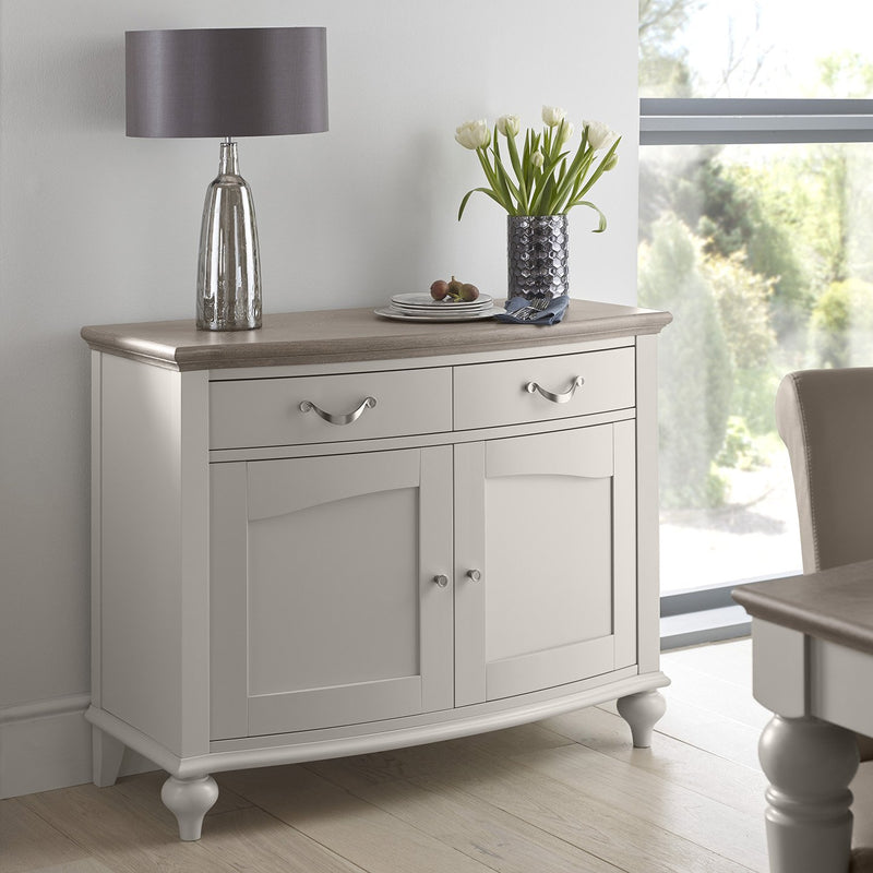 Montreux Small Sideboard - Soft Grey from Upstairs Downstairs Furniture in Lisburn, Monaghan and Enniskillen