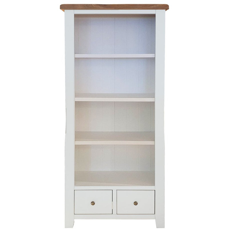 slim bookcase, two tone bookcase