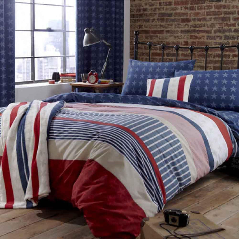Stars & Stripes Duvet Set: Various Sizes from Upstairs Downstairs Furniture in Lisburn, Monaghan and Enniskillen