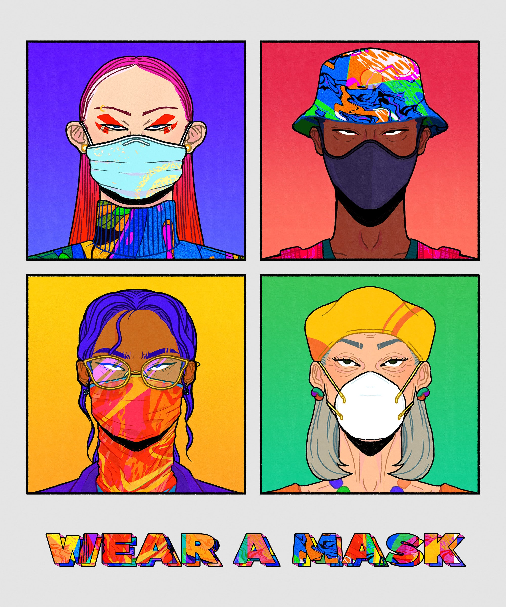 Wear A Mask T-shirt (UK Delivery Only)