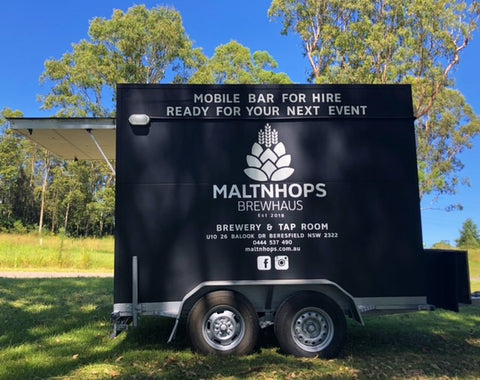 Image of mobile event hire bar on trailer