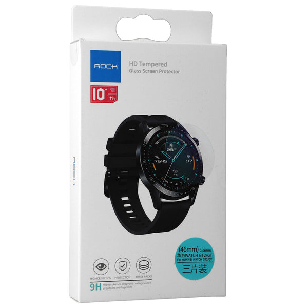 Glas Rock HD Tempered Glass Screen Protection Huawei Watch GT2/GT 46 mm