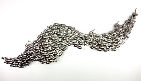 194 undulating Silver Baitfish school