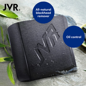 JVR Bamboo Charcoal Handmade Facial Soap - Monsieur Solide