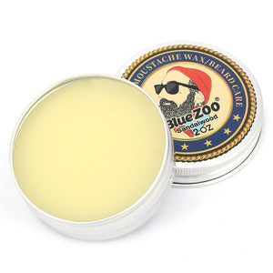 Blue ZOO Natural Beard & Moustache Beeswax Balm Styling - Monsieur Solide