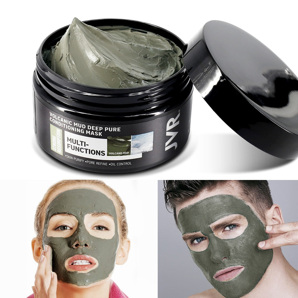 JVR Natural Volcanic Mud Solid Facial Mask for Deep Cleaning - Monsieur Solide