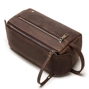 Load image into Gallery viewer, 100% Genuine Italian Cow Leather Premium Men's Wash Bag - Monsieur Solide