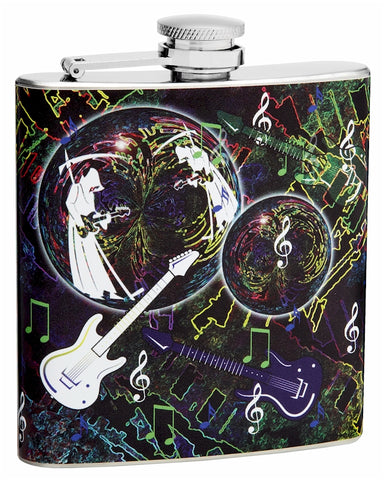 6oz Guitar Music Themed Hip Flask