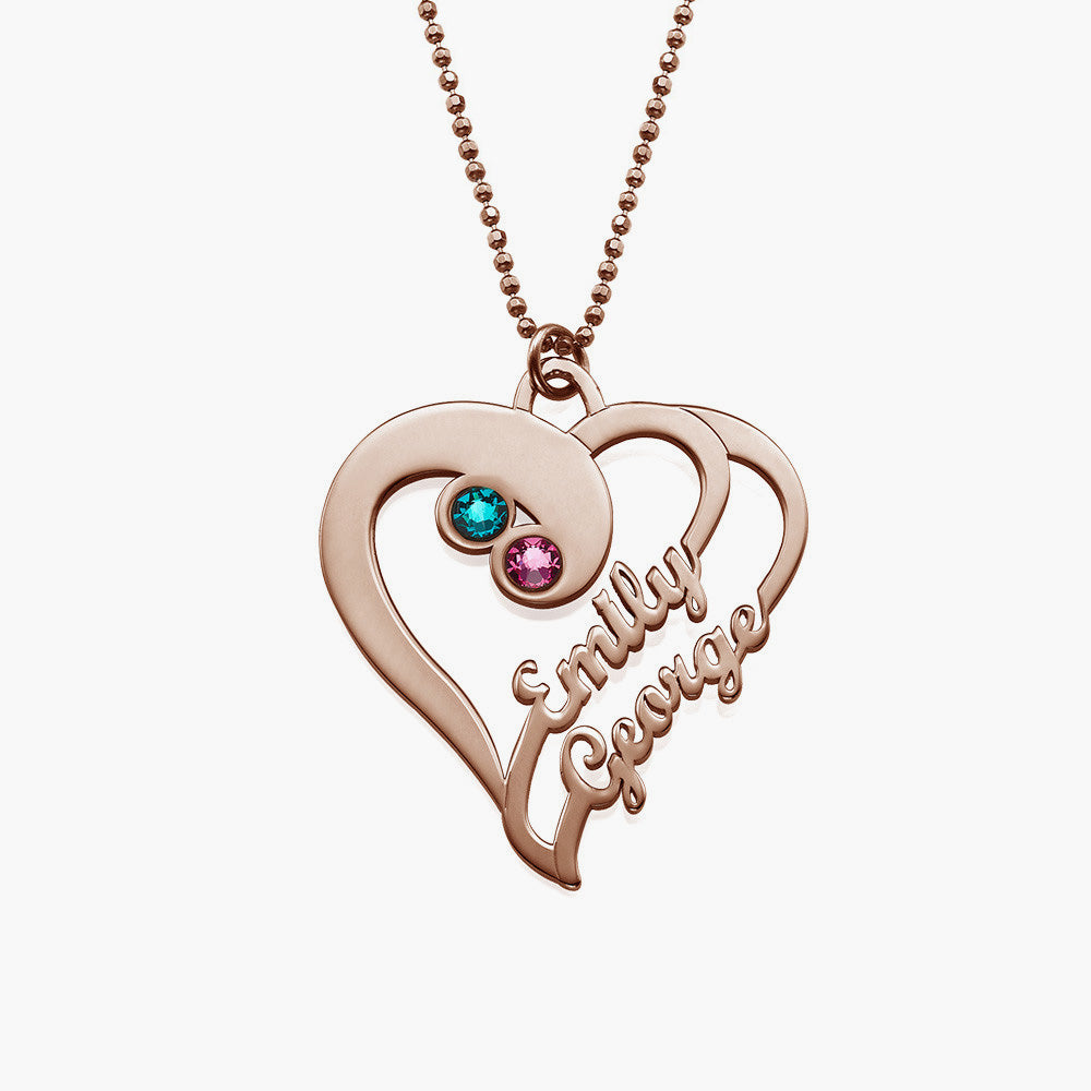 Two Hearts Forever One Necklace in Sterling Silver