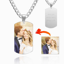Load image into Gallery viewer, Men's Stainless Steel Dog Tag Photo Pendant For Him