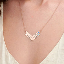 Load image into Gallery viewer, Swarovski Personalized Family Necklace in Gold Plating