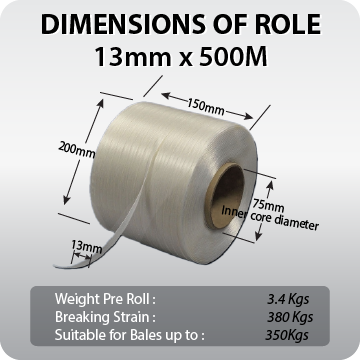 Baling Twine / Tape 13mm, with Free Delivery