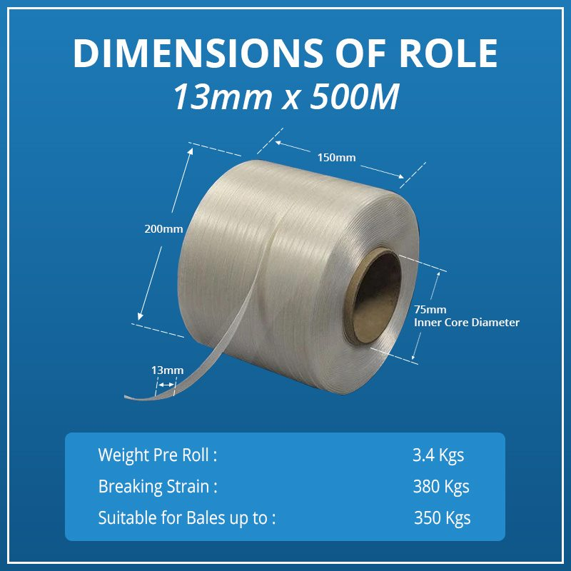Baling Tape 13mm, with Free Delivery