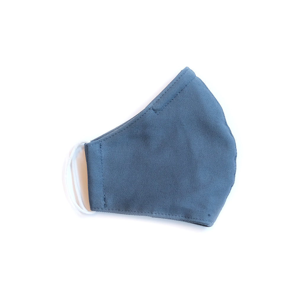 Cotton Face Mask - Elastic Loops - Harbor Blue