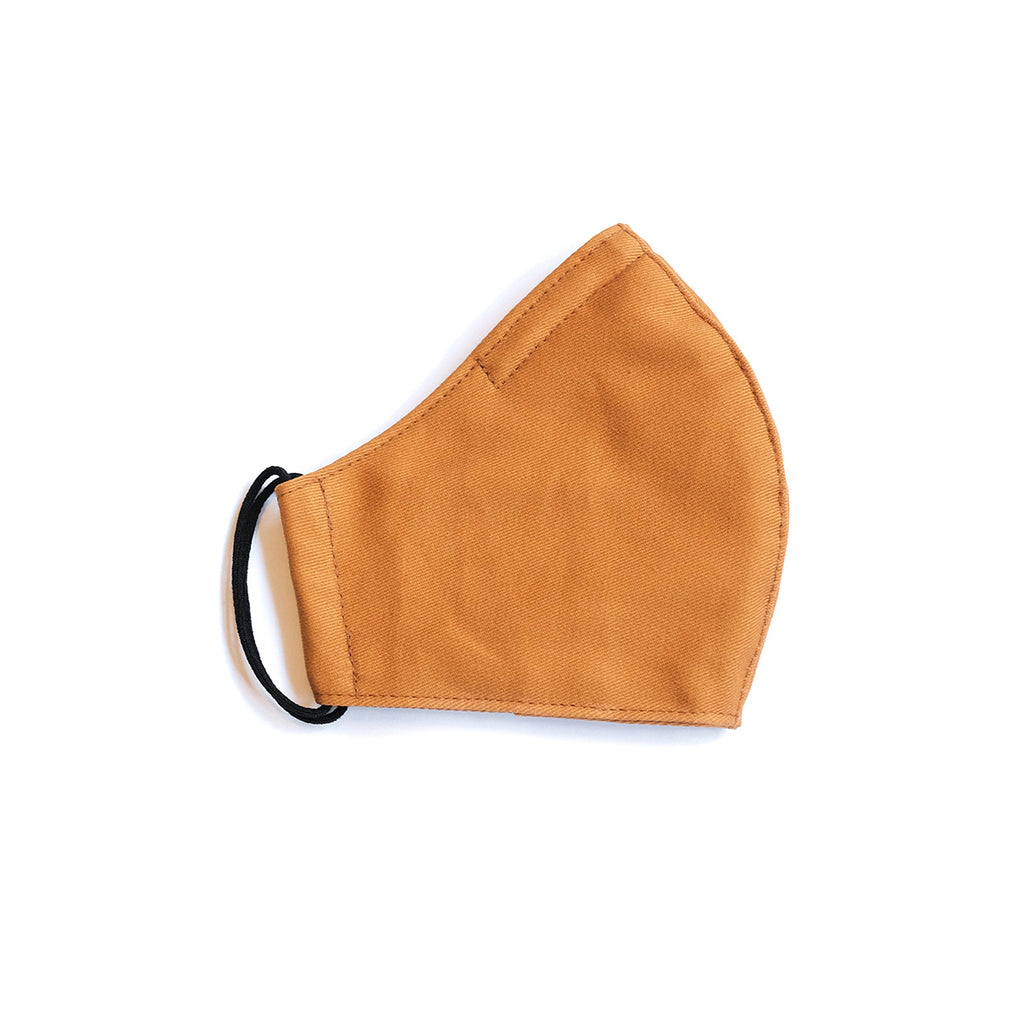 Cotton Face Mask - Elastic Loops - Ochre