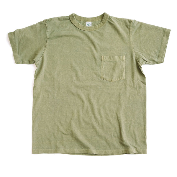 Pigment Dyed Pocket Tee - Leaf