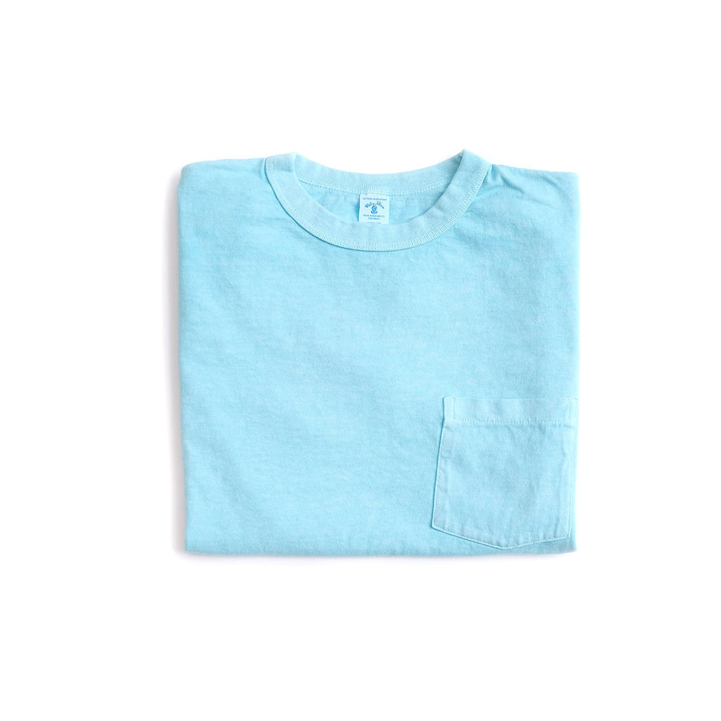 Pigment Dyed Pocket Tee - Sky