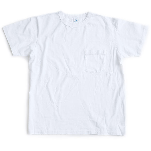Pigment Dyed Pocket Tee - White