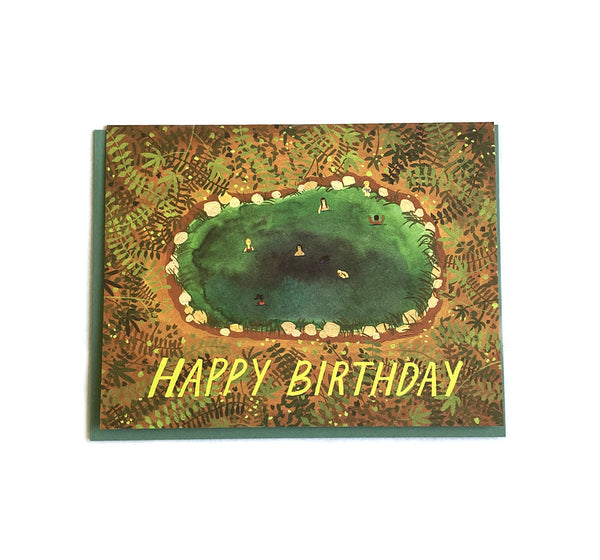 Hot Springs - Birthday Card