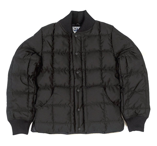 Square Quilt Down Jacket - Black
