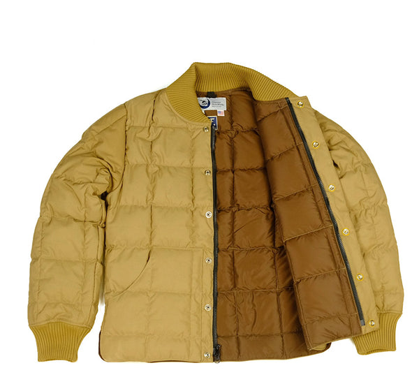 Square Quilt Down Jacket - Tan
