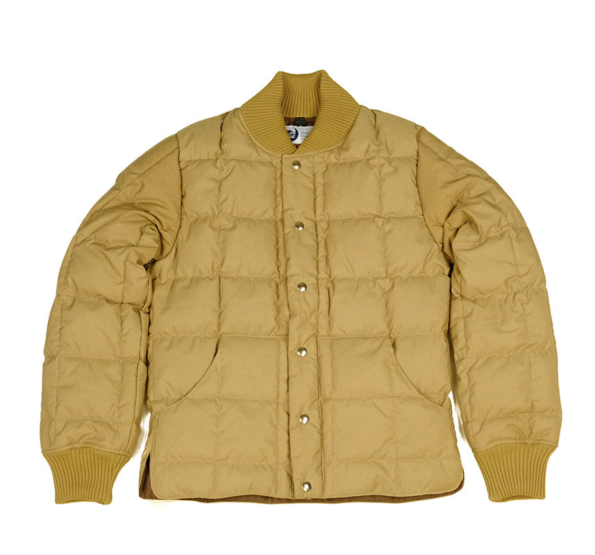 Square Quilt Down Jacket - Tan - Small