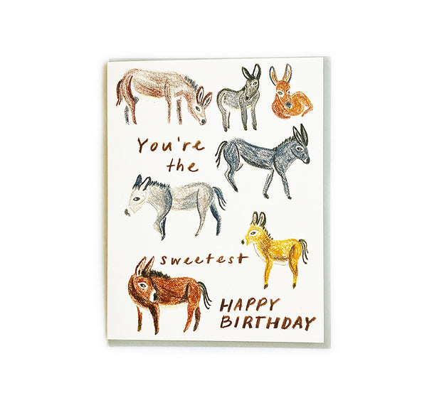 Donkey - Birthday Card