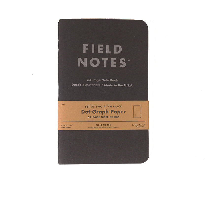 Pitch Black 2-Pack - Dot Paper