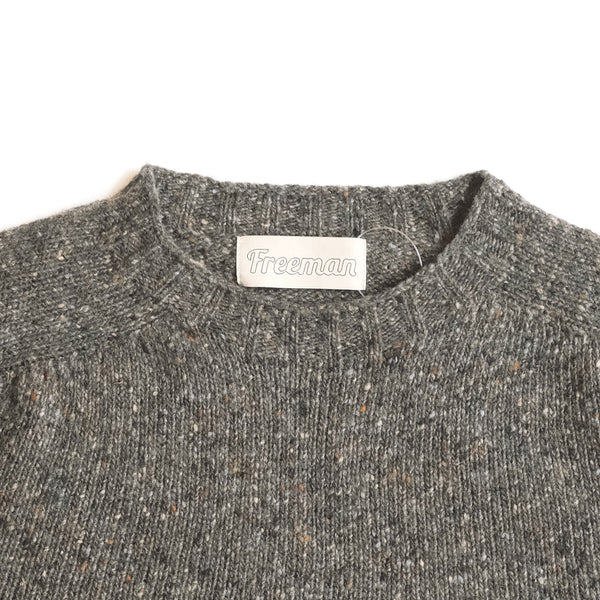 Merino Donegal Crewneck Sweater - Macean