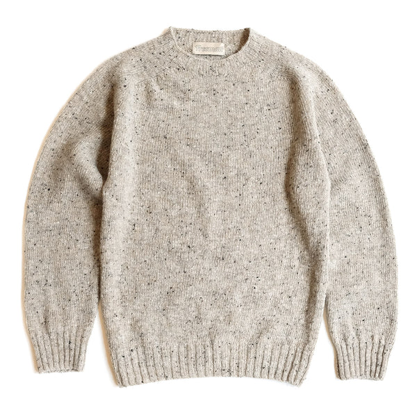 Merino Donegal Crewneck Sweater - Grist