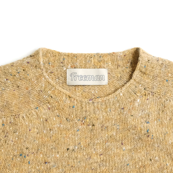 Merino Donegal Crewneck Sweater - Turmeric